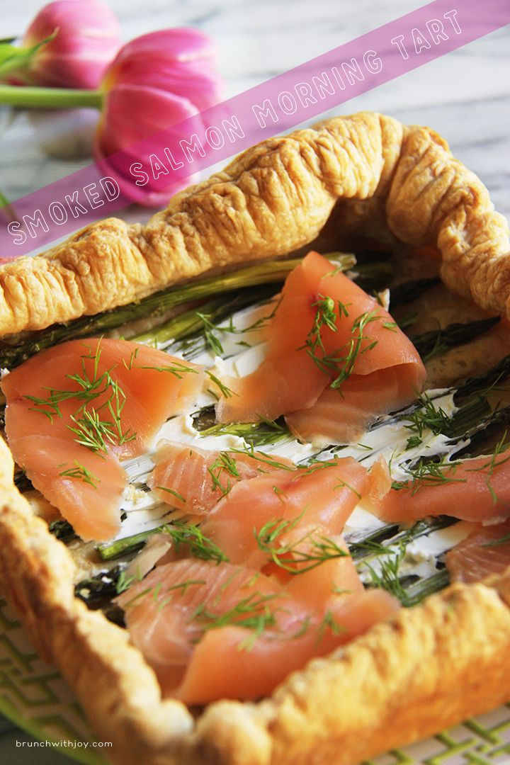 Smoked Salmon Tart - a simple but elegant and delicious