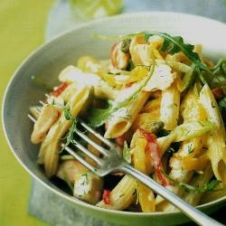 Smoked trout and pasta salad