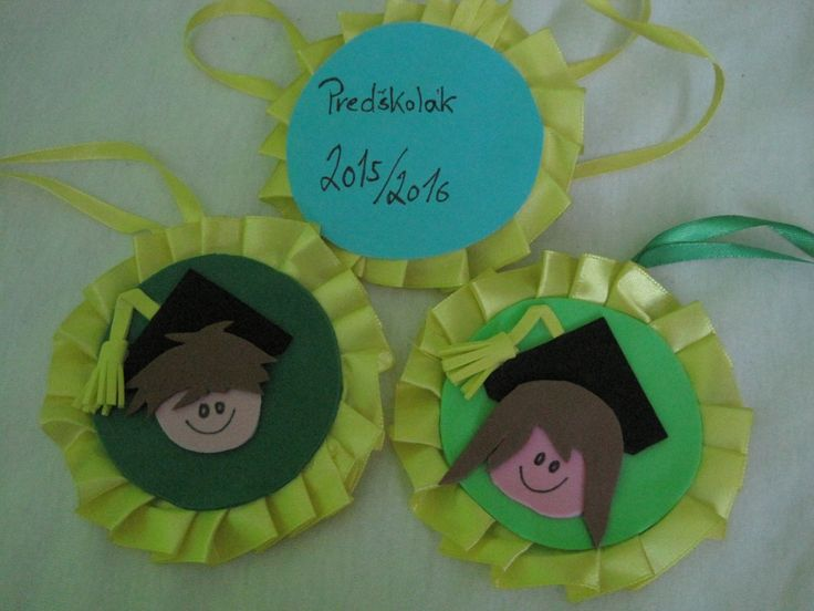 pamětní medaile na rozloučení s předškoláky
