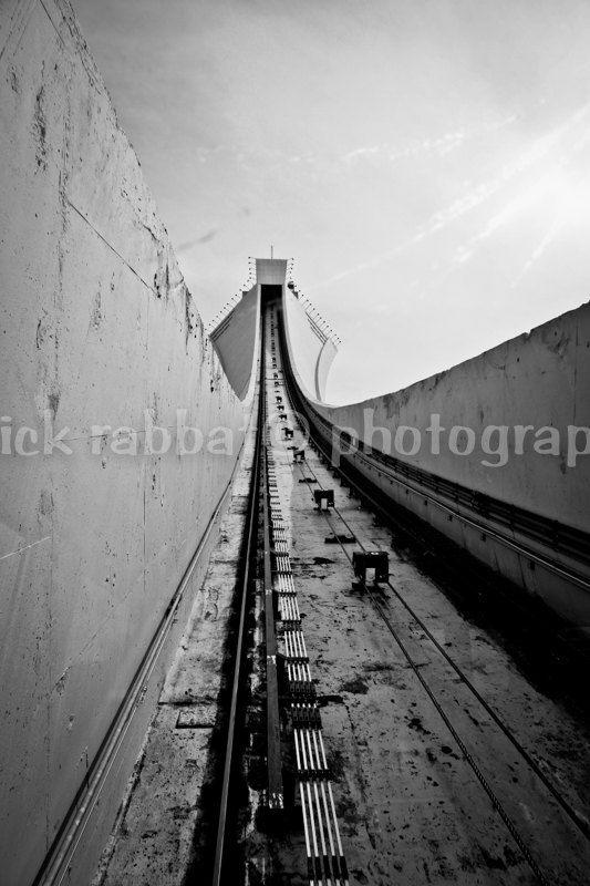 Olympic Stadium Funicular Montreal Fine Art by PatrickRabbatPhotos