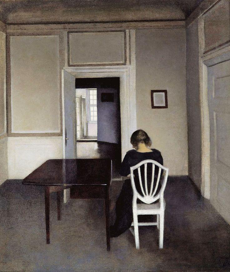 "Doublenegativeproject: "" Vilhelm Hammershøi, Interior With"