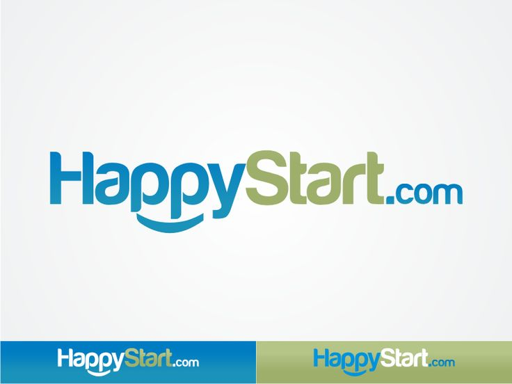 logo for HappyStart.com by Magnum Logo Design