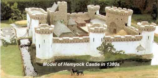 Model of Hemyock Castle in 1380s.