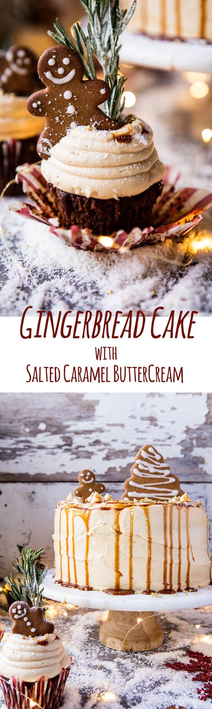 Gingerbread Cake with Caramel Cream Cheese Buttercream   halfbakedharvest.com @hbharvest