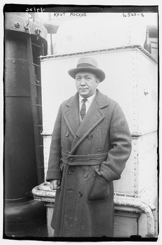 Knute Rockne the legendary Notre Dame coach who is argueable the greatest coach in football history.  He coached the Irish to four National Championships (1919, 1924, 1929, 1930).  His use of the forward pass changed football forever.