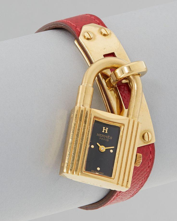 Hermes Vintage Red Leather Kelly Watch Women #Men #Jewelry ...