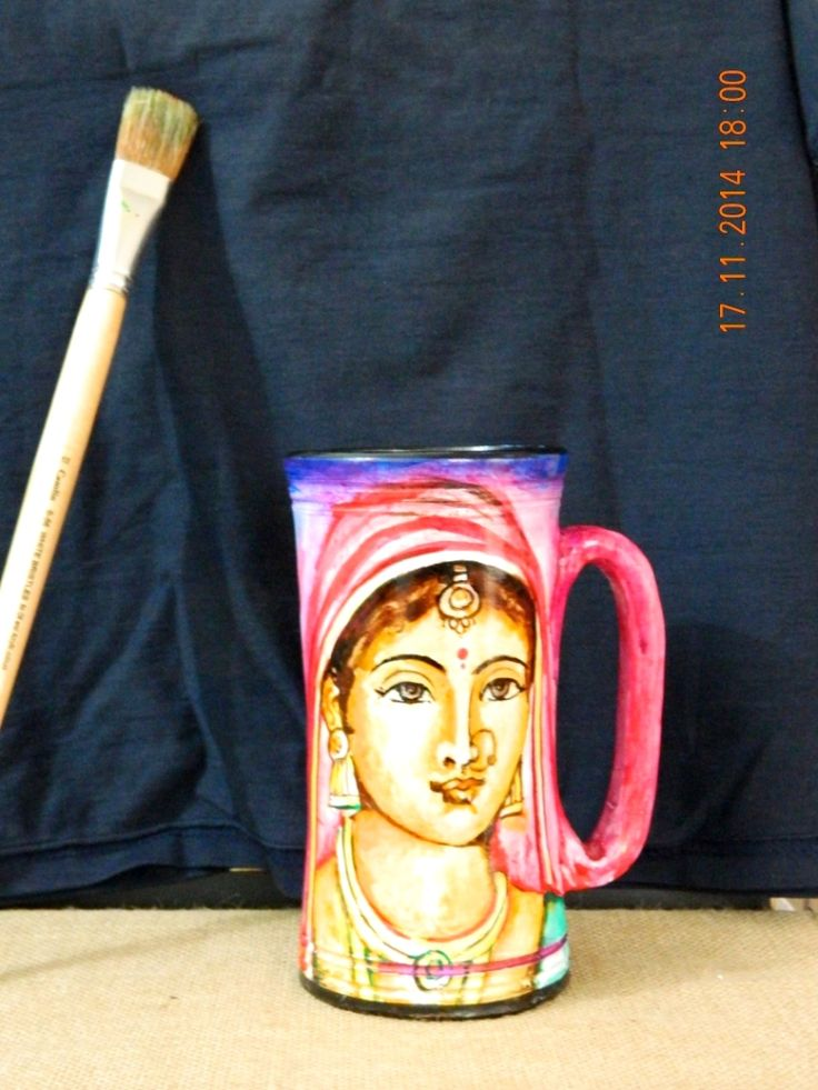 These hand painted mugs are a lovely option as a gift to your loved ones. Eco-friendly these terracotta mugs are very unique and exclusive gifting option. As these are hand made and hand painted, every mug is a unique art form and a product that will add color to your table tops / showcase / drawing rooms.Handcrafted by indian artisans.