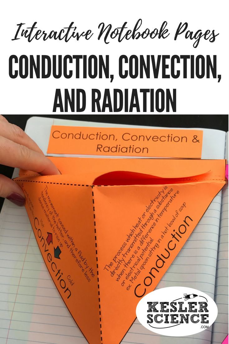 Analyze how heat energy transfers with these conduction, convection, and radiation foldables, interactive pyramid, and pull out accordion. Turn science notebooks into a fun, interactive, hands-on learning experience for your upper elementary or middle school students! Grades 4th 5th 6th 7th 8th 9th