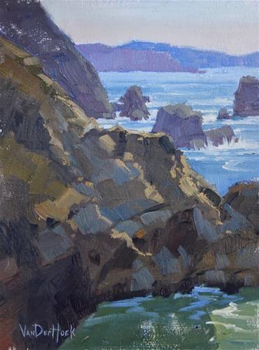 """Elemental Encounters - Original Oil Painting of Bodega Bay - California Beach Painting - Coastal Art"" - Original Fine Art for Sale - © Kim VanDerHoek"