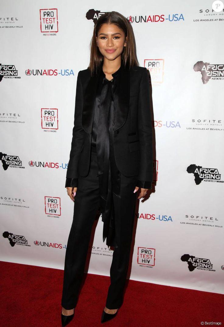 """Zendaya Coleman lors de la soirée caritative """"Inaugural World AIDS Day Benefit"""" à Los Angeles, le 1er décembre 2015."""
