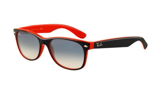 Ray Ban RB2132 Wayfarer Sunglasses Black In Red Frame Crystal Gr