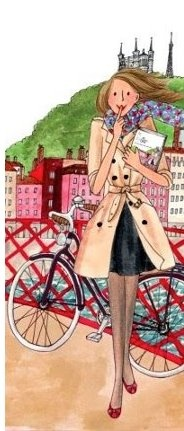 Kanako's illustrations are just lovely. And usually located somewhere in Paris, which adds an extra frisson of delight.