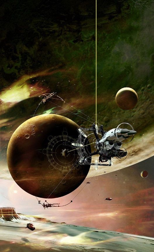 """Cover art for """"The Year's Best Science Fiction: Twenty-Fourth Annual Collection"""" (2007). Artist: ?"""