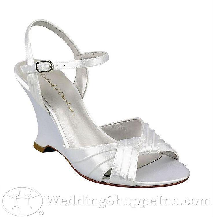 Dyeable Wedding Shoes Low Heel Wedge Wedding Pinterest