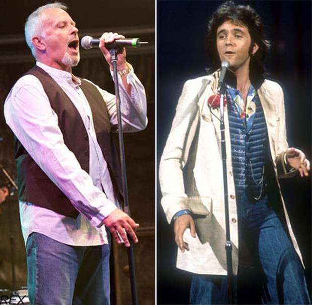 David Essex - on the right, how he was in 1974 when I saw him then... and on the left is how he will probably look when I see him this December!