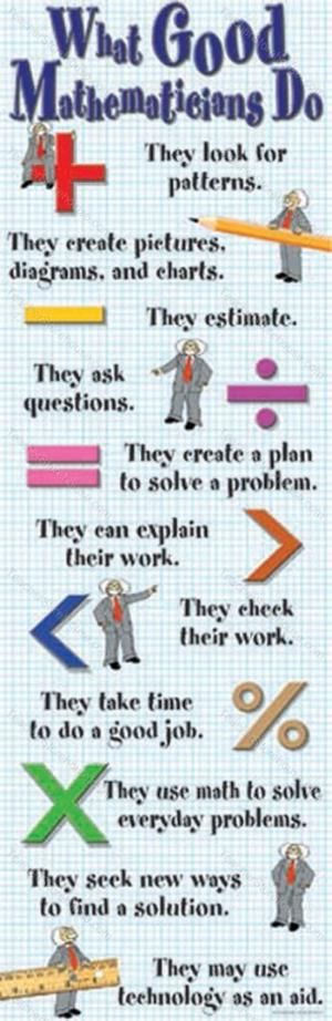 good mathematicians - love this poster!