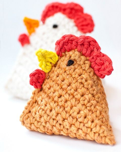 Crochet Chicken Pattern ... Little Chick Bean Bag Pattern - Petals to Picots