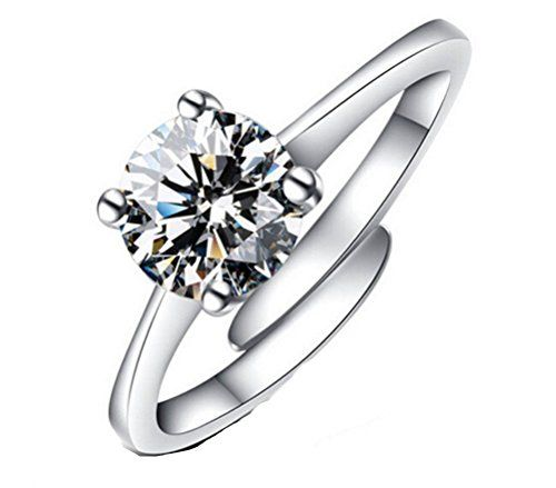 JaneDream 10 pcs Women's Ring Crystal Jewelry Rings simple design multi-color eZLEii88Q