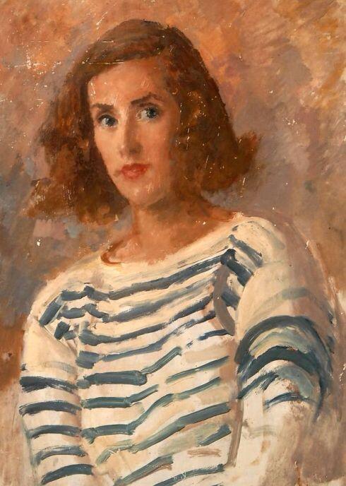 Augustus Edwin John - Portrait of Gwyneth Johnstone