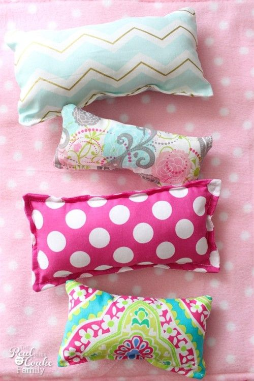 DIY Craft: This is super simple sewing and makes great Activities for Kids. We can make these super simple pillows for American Girl Dolls or for Beanie Boos.