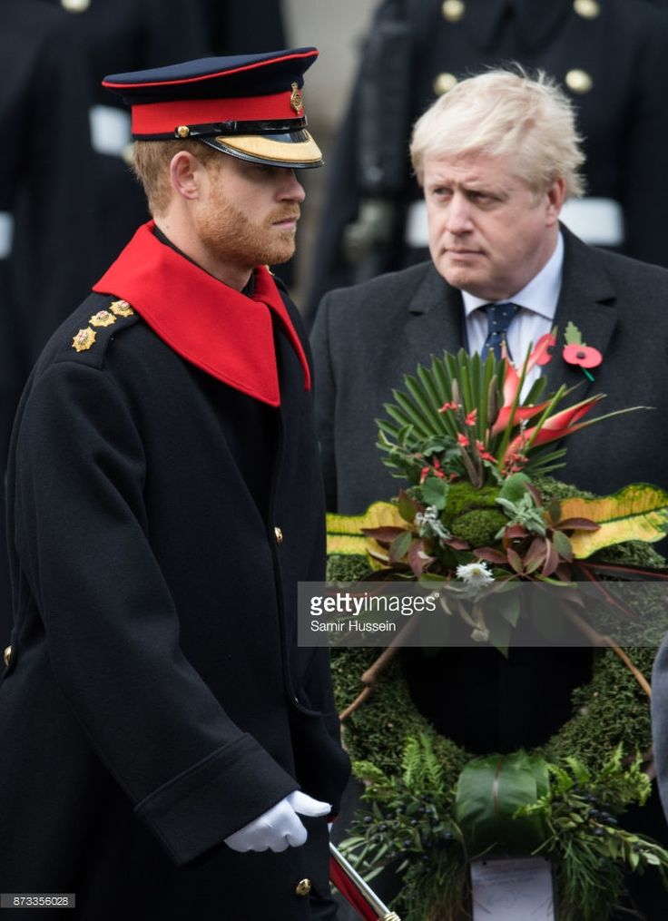 News Photo : Prince Harry and Boris Johnson during the annual...