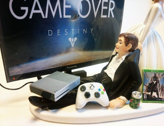 Video Game Xbox One Game Over Funny Gamer by Pieceofcaketoppers4u