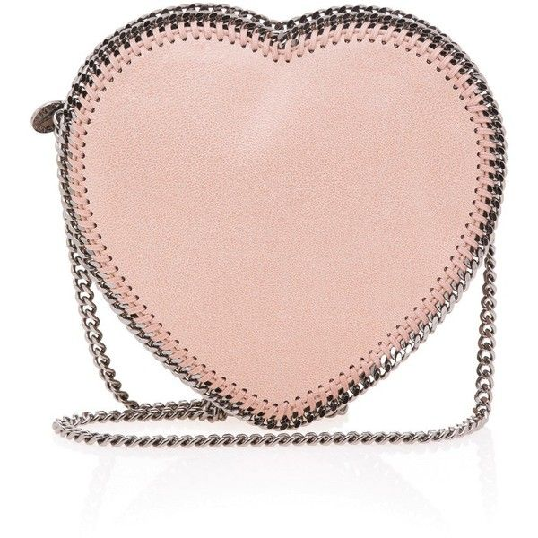 Stella Mccartney Falabella Heart Cross Body Bag found on Polyvore featuring bags, handbags, shoulder bags, hearts, сумки, heart purse, chain shoulder bag, chain purse, heart shaped purse and chain crossbody