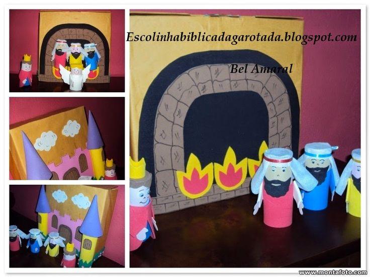 Escolinha Bíblica da Garotada: Os Amigos de Daniel foram jogados na fornalha arde...
