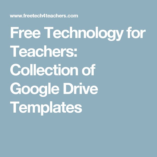 Collection of Google Drive Templates