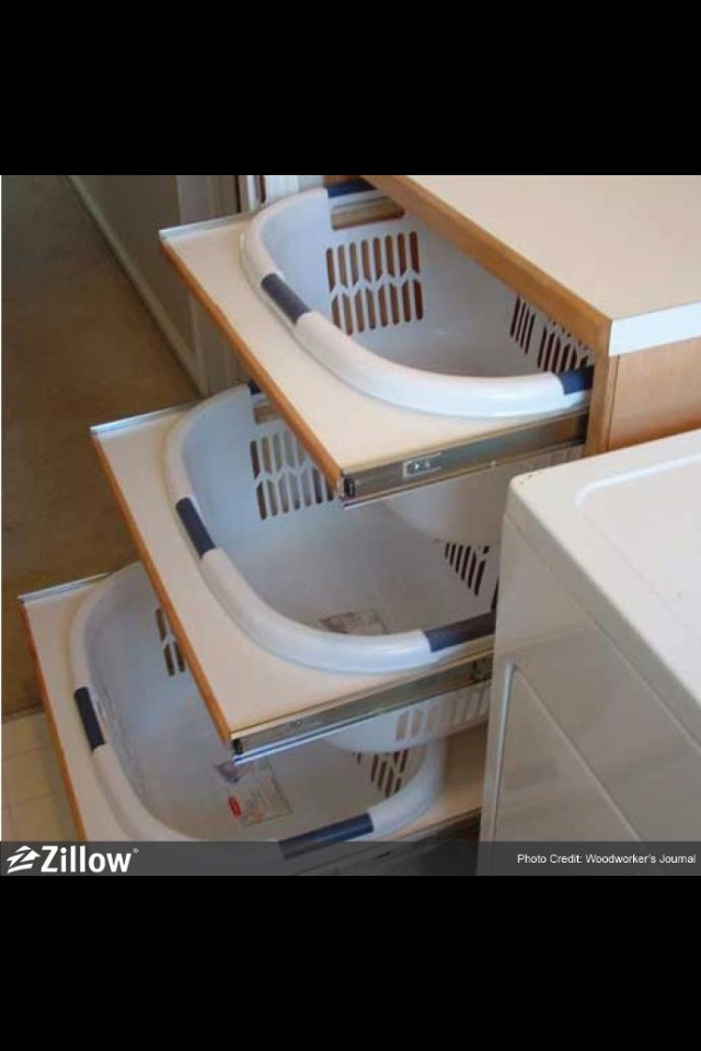 Laundry Basket Storage Another design, but looks a little more complicated