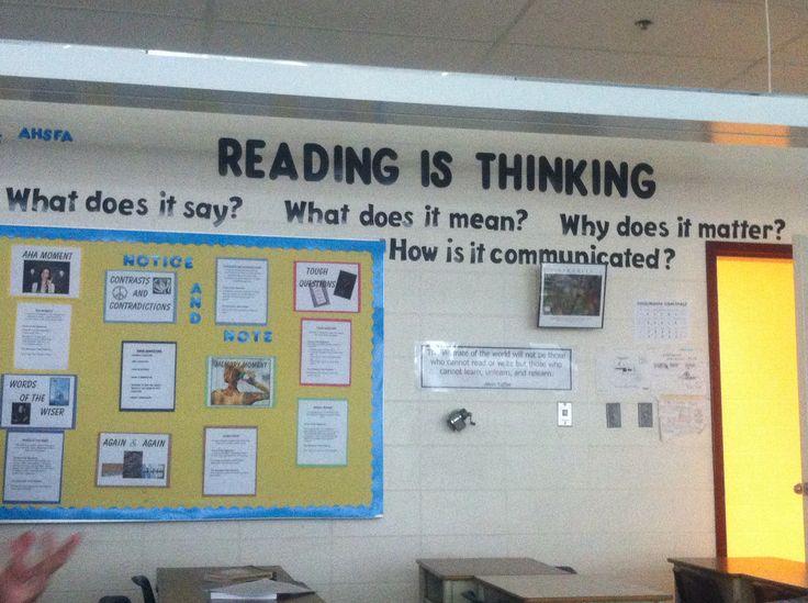 English Language Arts Classroom Decorations ~ High school language arts bulletin board classroom