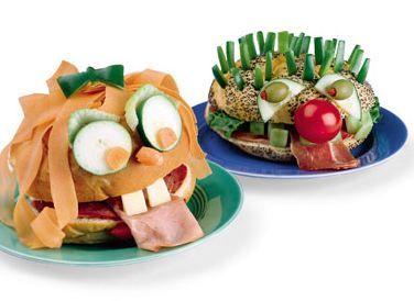 Silly Face Sandwich
