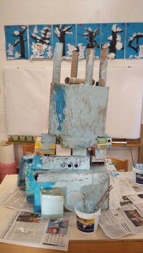 Elsa's kasteel Frozen,  groepswerk
