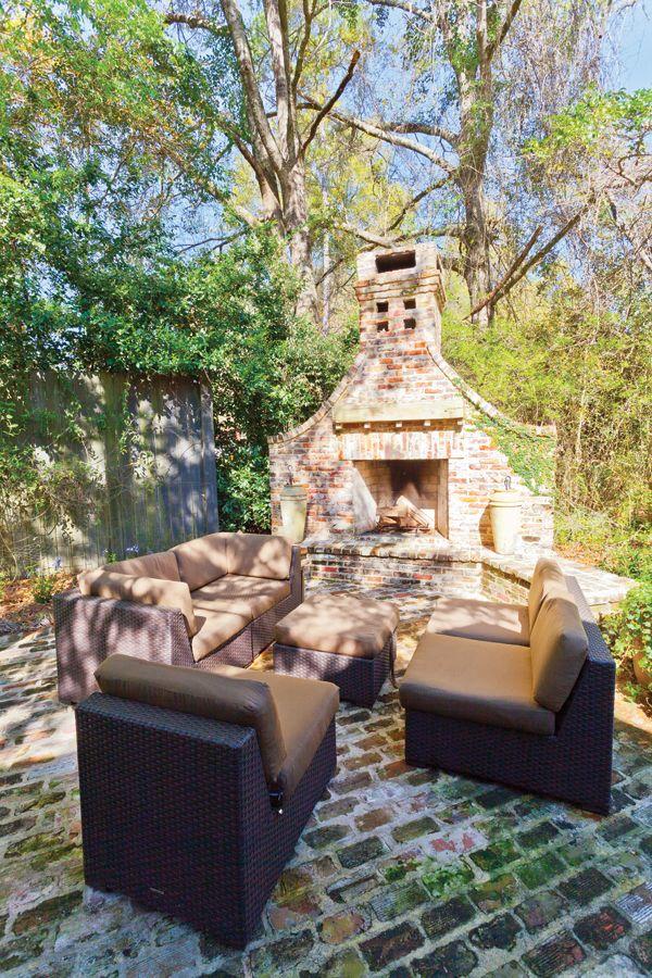 Outdoor Fireplace Courtyard Patio Outdoor Living