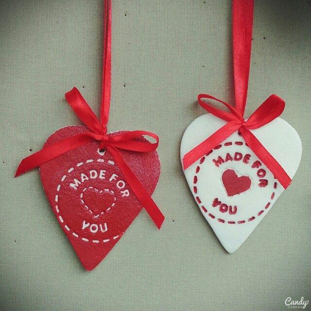 Urocze zawieszki serduszka, ręcznie wykonane. Handmade hearts :)