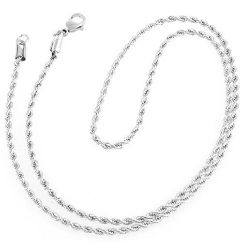 Ecloud Shop® 2.4mm Edelstahl Halskette Herrenkette Herrenschmuck Neu CHARMS