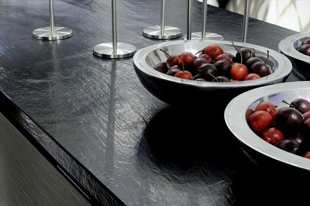 Wave collection vulcano countertop santamargherita usa wave collection pinterest - Quarzite piano cucina ...