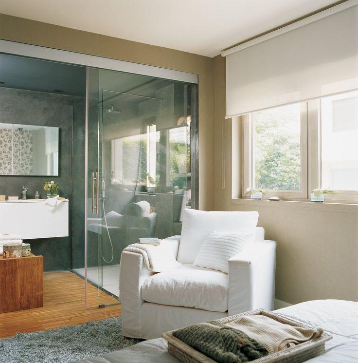 Glass Wall Divider......Instala paredes de cristal y gana luz y amplitud en casa · ElMueble.com · Escuela deco