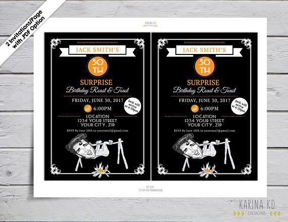 """Welcome to KarinakdDesigns! This listing is for the digital file of the """"ROAST & TOAST INVITATION"""". You will get the personalization of the text, text color and Rocket color only. You will receive your order by email. ****DIGITAL DOWNLOAD ONLY!!! NO PHYSICAL PRODUCT WILL BE"""