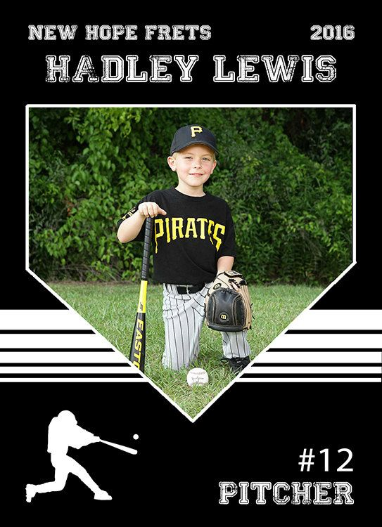 Baseball Card Template. Perfect for trading cards for your