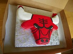Chicago Bulls Cake | by Imake Sweets