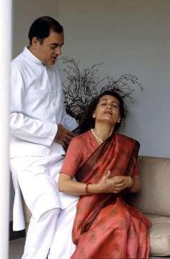 Rajiv Gandhi and wife Sonia.