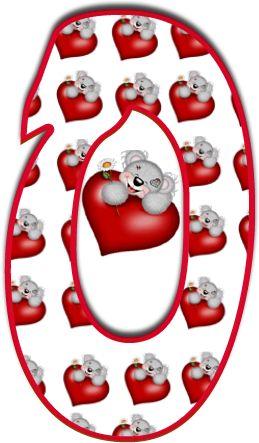 Alfabeto de Tatty con corazones. | Oh my Alfabetos!