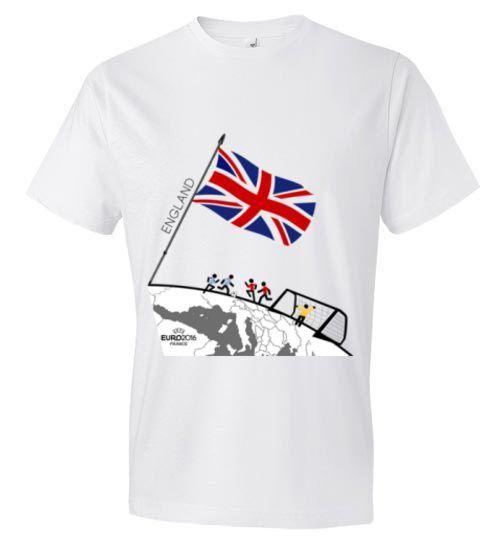 Team England Flag Euro 2016 T-shirt