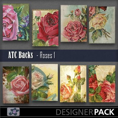 For ATC [Artist Trading Card ]lovers. 8 Backgrounds ready sized for you. [2.5 x 3.5 inches] NB These are NOT fullsized scrapbook papers. Thi...