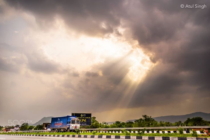http://500px.com/photo/182654555 Highway by atulsinghbsb -Trucks plying on Indian Roads.. Tags: skytravelclouds