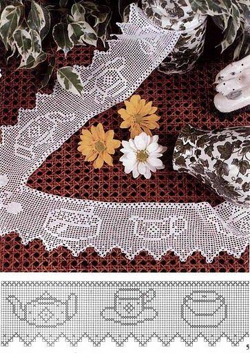 Häkeln Borte Bordüre Spitzen - crochet edging lace border BARRADOS DE CROCHÊ