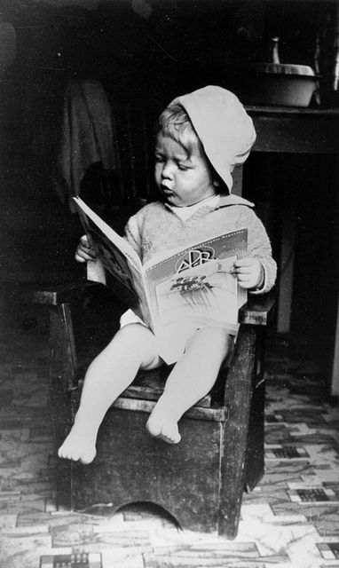Love this image - John Harris, son of Michael and Hilda Harris, 1934 by State Library of Queensland, Australia, via Flickr #NYRSons, Hilda Harry 1934, Hilda Harris1934, Book Reader, Queensland Australia, Famous Reader, Children Reading, John Harry, Flickr Nyr