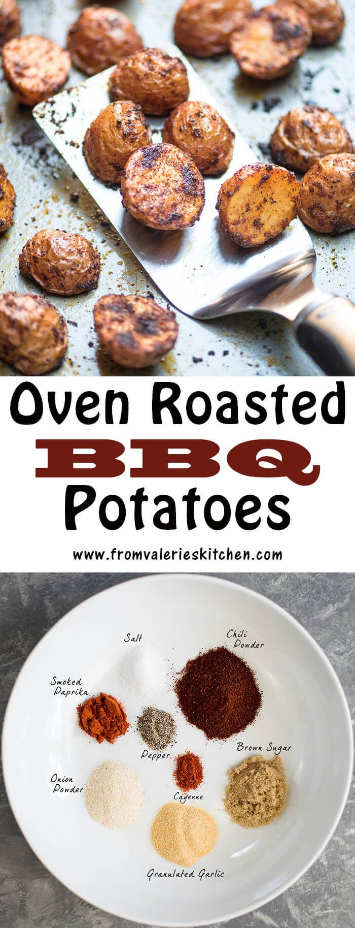 A delicious blend of spices turns baby red potatoes into a super flavorful side dish Add some interest to your plate with these Oven Roasted BBQ Potatoes!