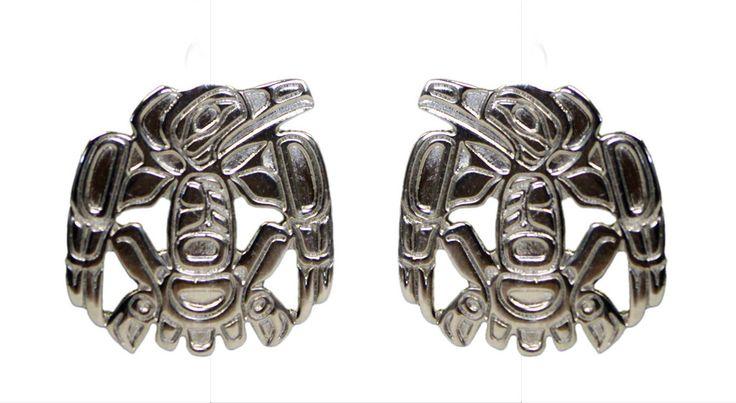 Silver Earrings - Raven by Corey Moraes